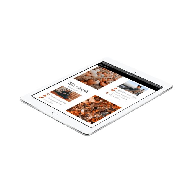 Web Design Portfolio on iPad